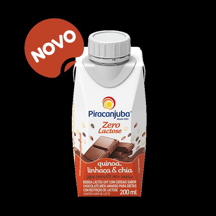 Bebida Láctea com Cereais Sabor Chocolate Meio Amargo Zero Lactose 200 ml