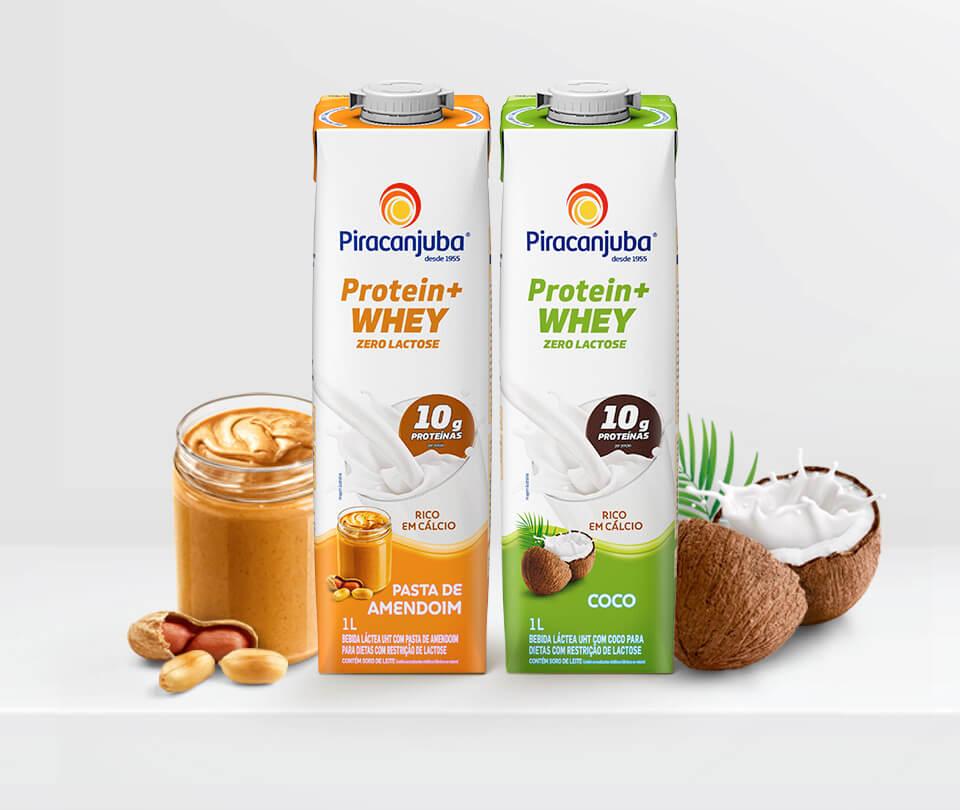 Pensado para quem deseja manter uma alimentação saudável e equilibrada no dia a dia, o novo lançamento da Piracanjuba, Protein+ Whey, é uma opção prática, gostosa e versátil.