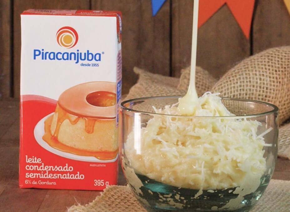 Cocada no capricho, com Leite Condensado Piracanjuba, para te inspirar a preparar doces juninos! Quem adora as receitas nessa época do ano? Conta pra gente as suas preferidas.