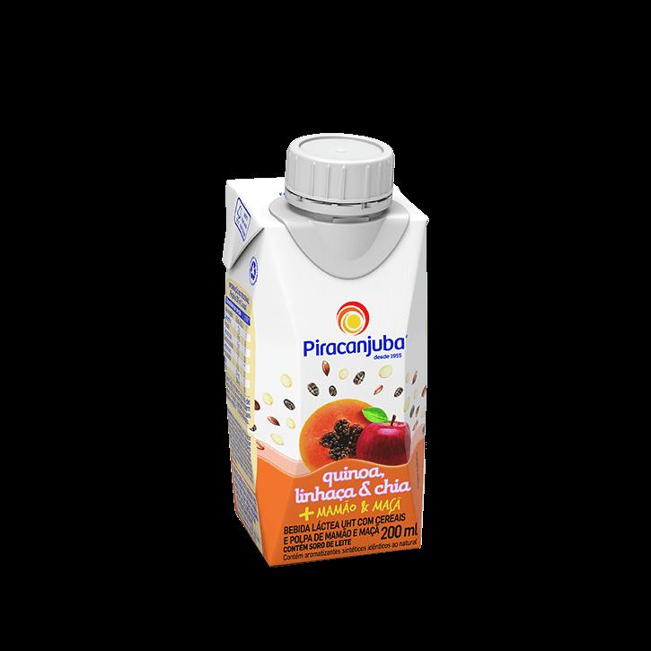 Bebida Láctea com Cereais Sabor Mamão & Maçã 200 ml