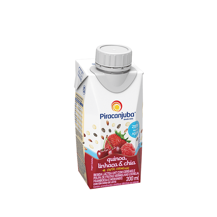 Bebida Láctea com Cereais Zero de Adição de Açúcar Sabor Frutas Vermelhas 200 ml