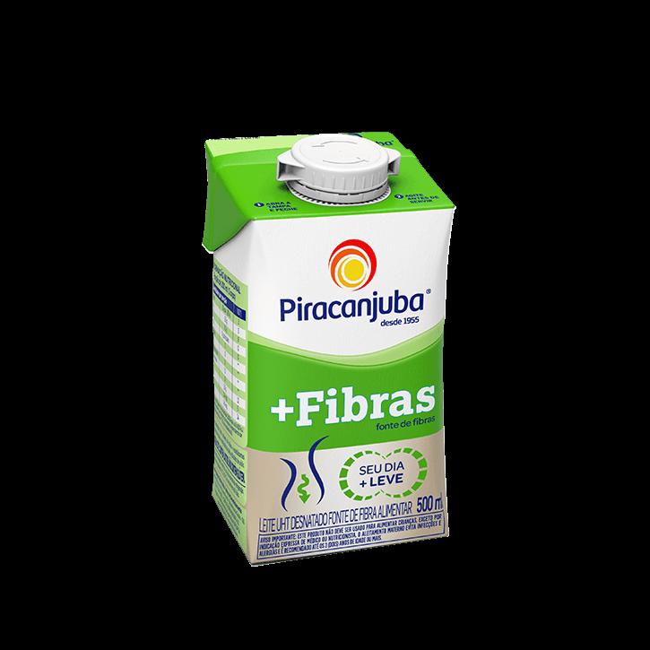Leite Desnatado + Fibras 500 ml