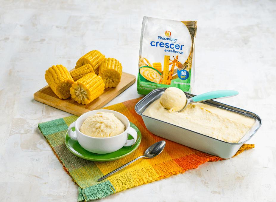 Delicioso e nutritivo, o Sorvete Cremoso de Milho com os Cereais da linha Piracanjuba Crescer, oferece vitaminas e minerais para um crescimento saudável. Experimente!