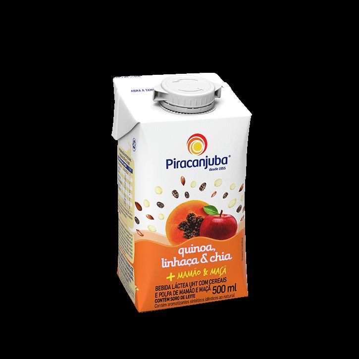 Bebida Láctea com Cereais Sabor Mamão & Maçã 500 ml